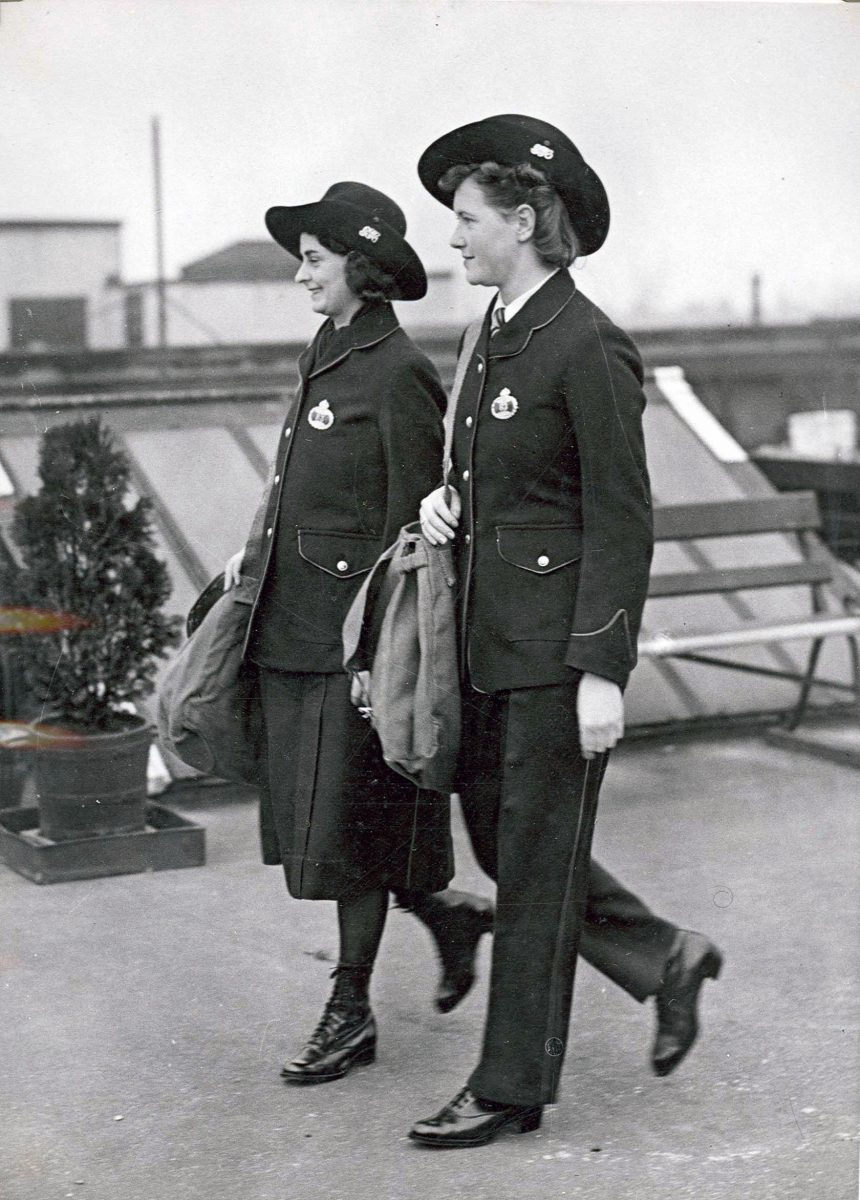 Two postwomen in their Camerons