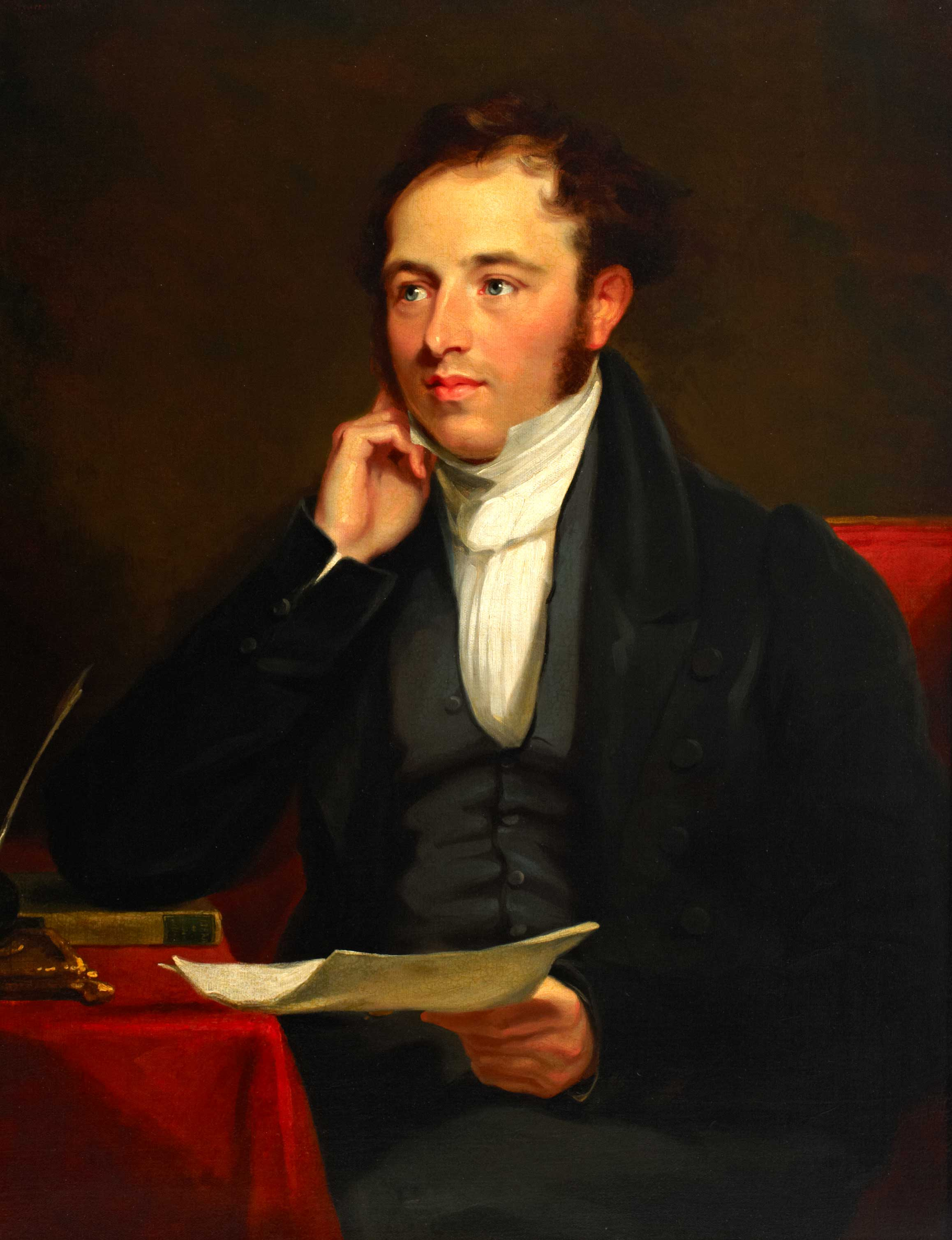 Half length portrait of Rowland Hill as a young man, c. 1836 (2004-0154)