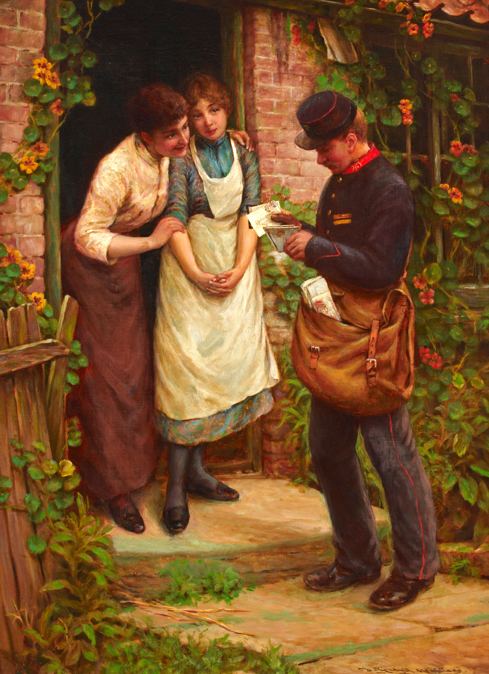 'The Postman', painted 1891 (OB1997.5)