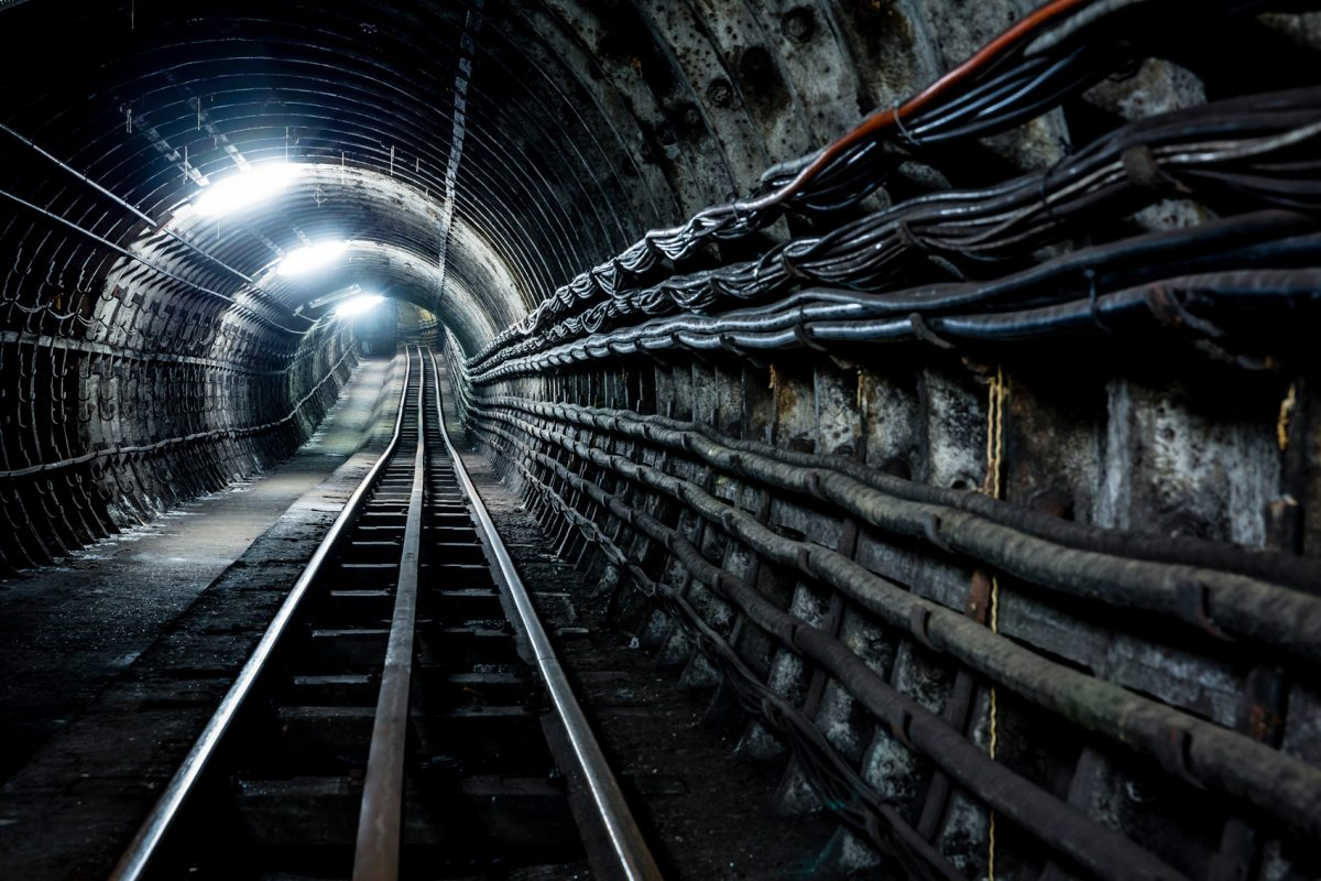 View of Tunnels down Tracks, © The Postal Museum/Miles Willis