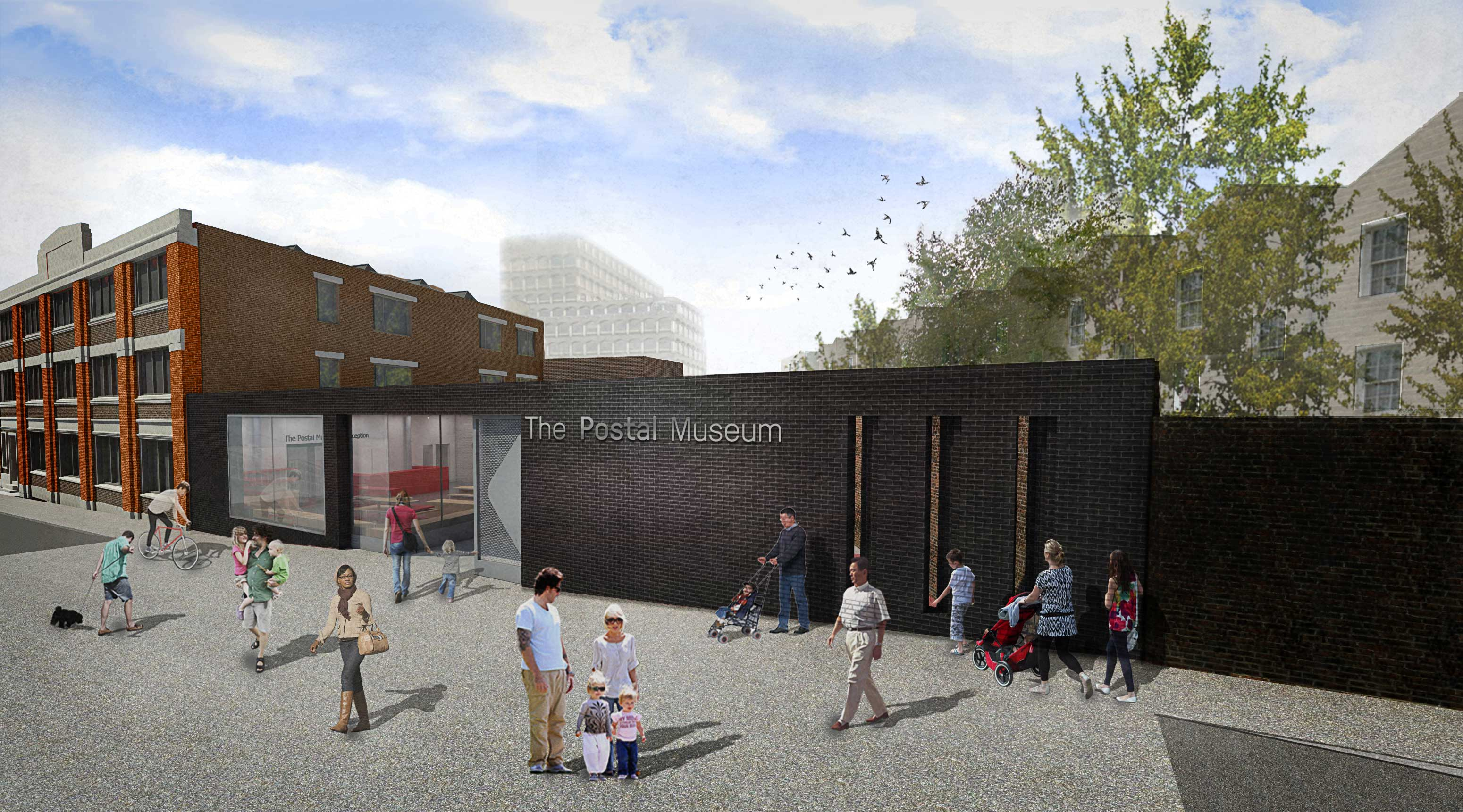 Visualisation of how the Postal Museum facade might look
