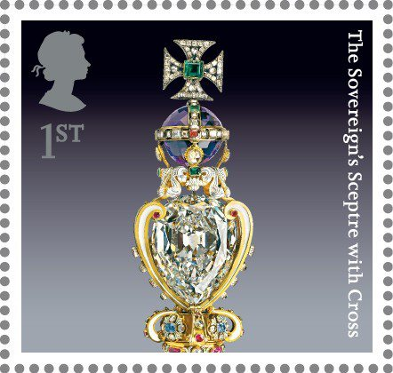 Top of the Sovereign's Sceptre which holds the Cullinan diamond.