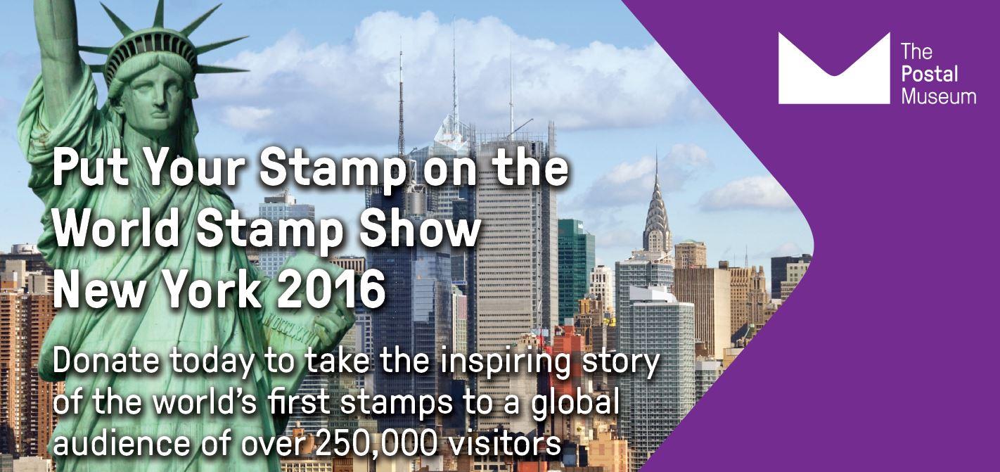Flyer for Sponsor a Stamp campaign