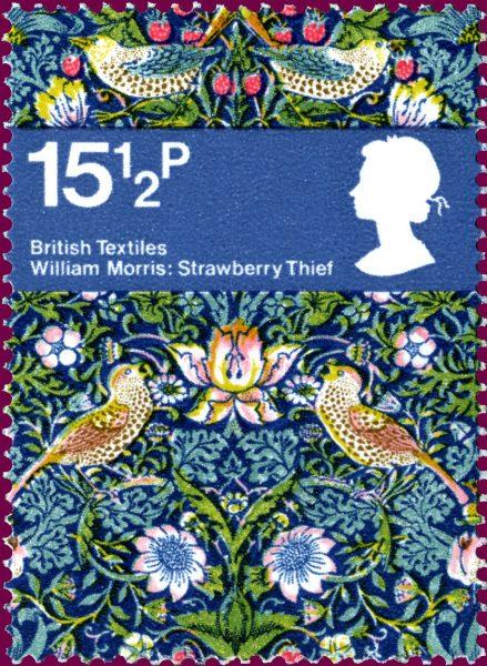 William Morris design of strawberries, birds and flowers.