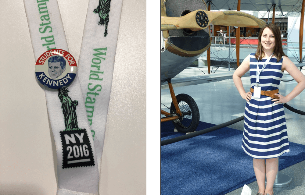 Left: My JFK 1960 Campaign Button  Right: Jenny with the 'Jenny'!