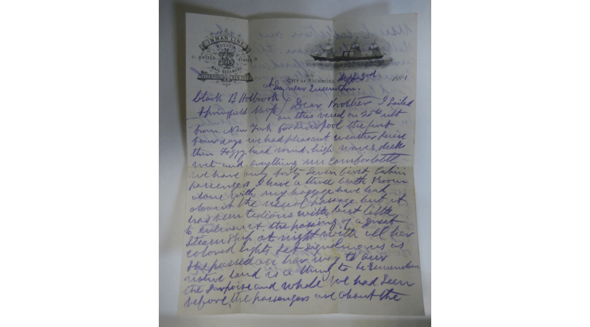 Letter to Charles Holbrook