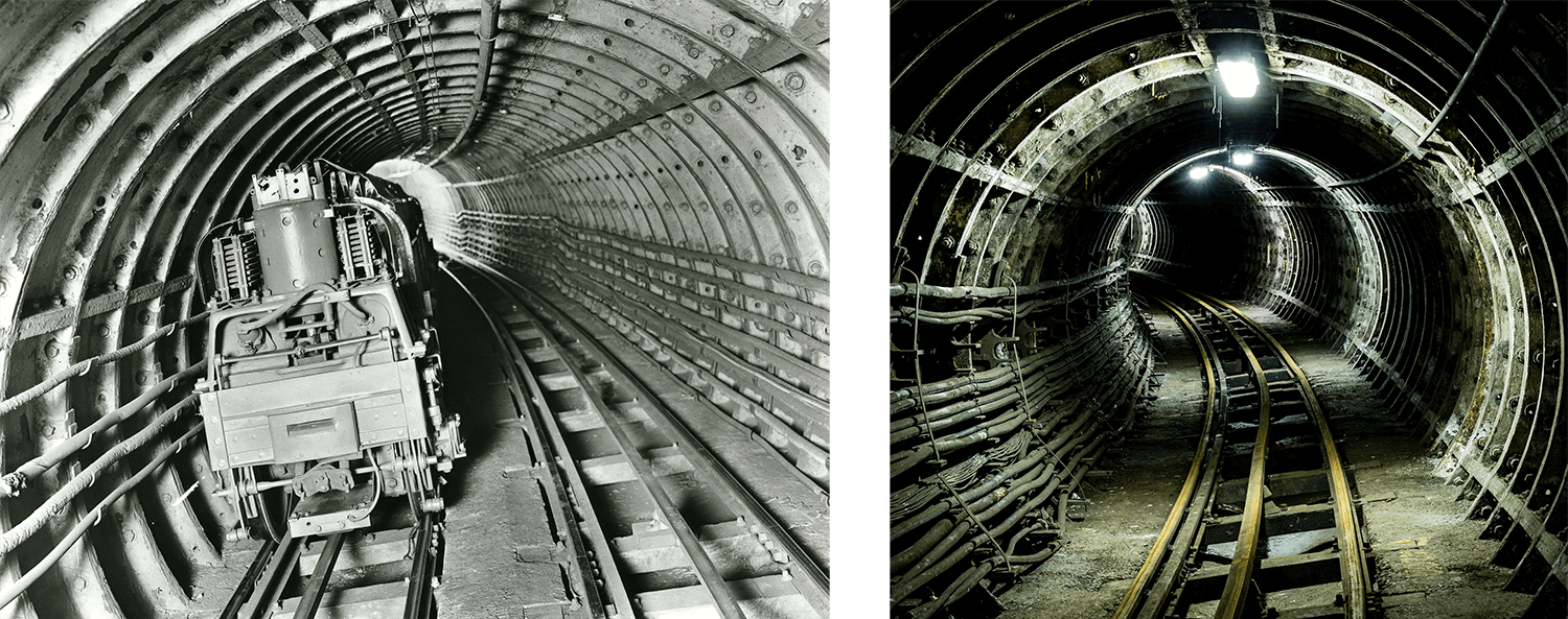 Mail Rail in the 1930s vs today