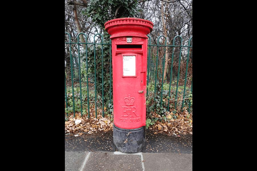 EiiR B type pillar box