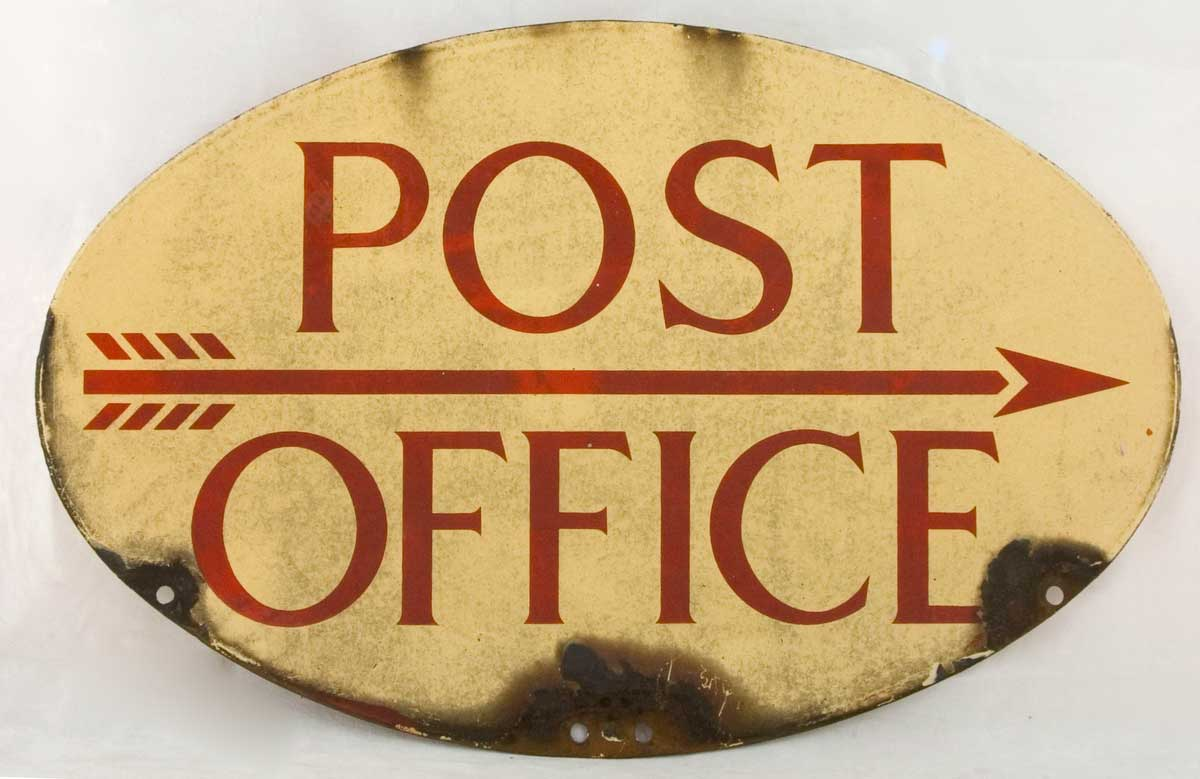 Post Office Direction Sign