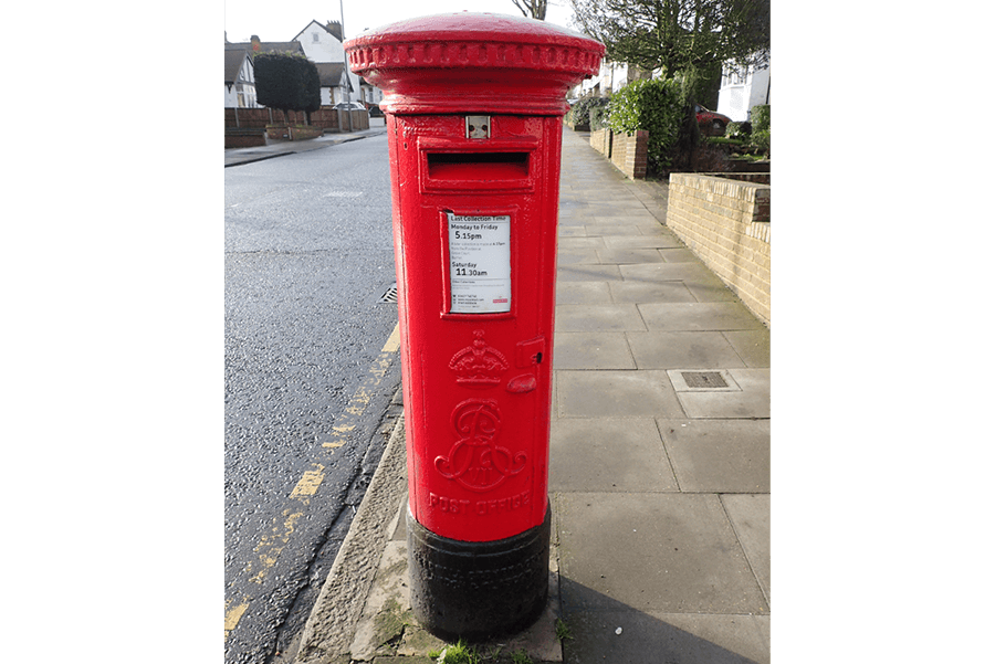 An EviiR B type pillar box