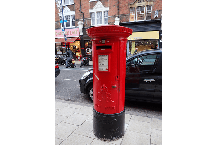 A GR A type pillar box
