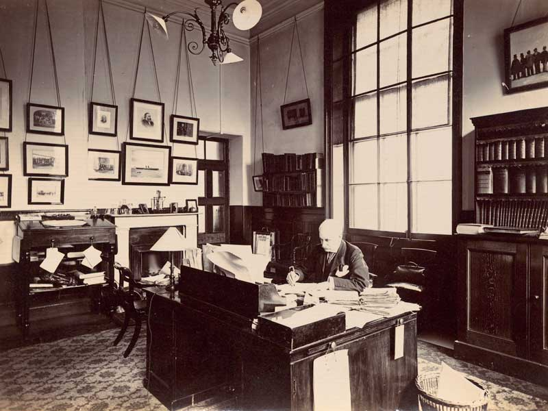 Mr Herbert Joyce, who brought together the archives under one roof in 1896