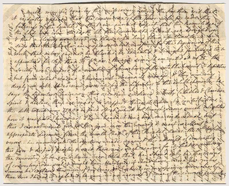 Cross-written letter, 1815 (2015-0004)