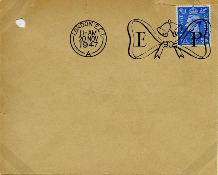 Specimen envelope with postmark