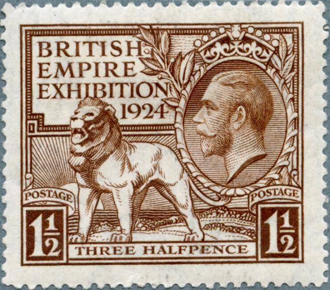 1925 issue, three halfpence value