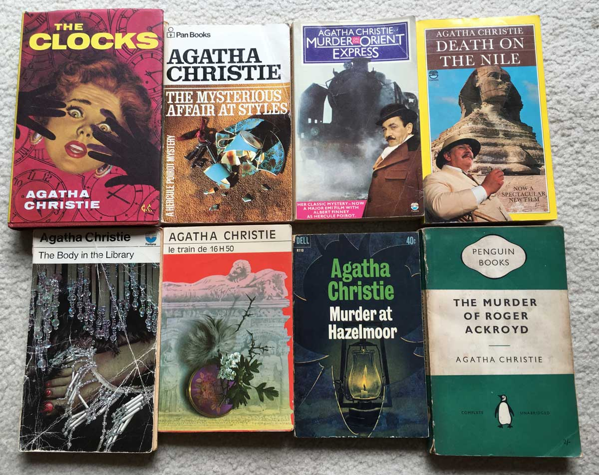 Photo of 8 Agatha Christie books