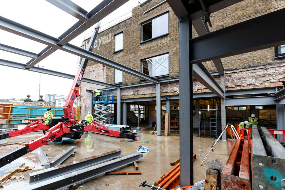 Building works on the Welcome Space for The Postal Museum