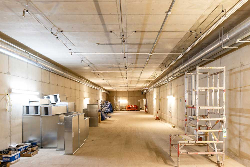 Building works on The Postal Museum's new Archive