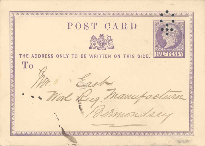 The first type of postcard, 1870