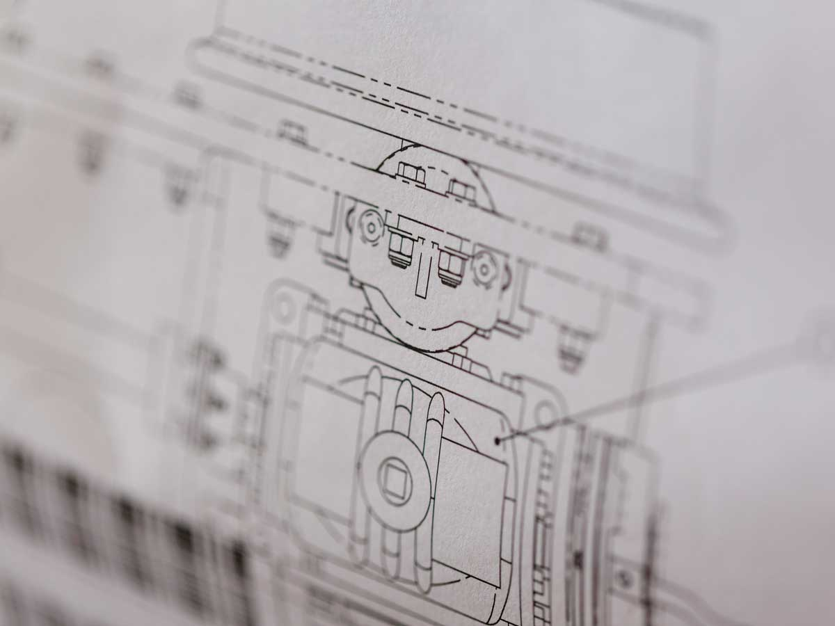 Part of a train design drawing. Not a robot!