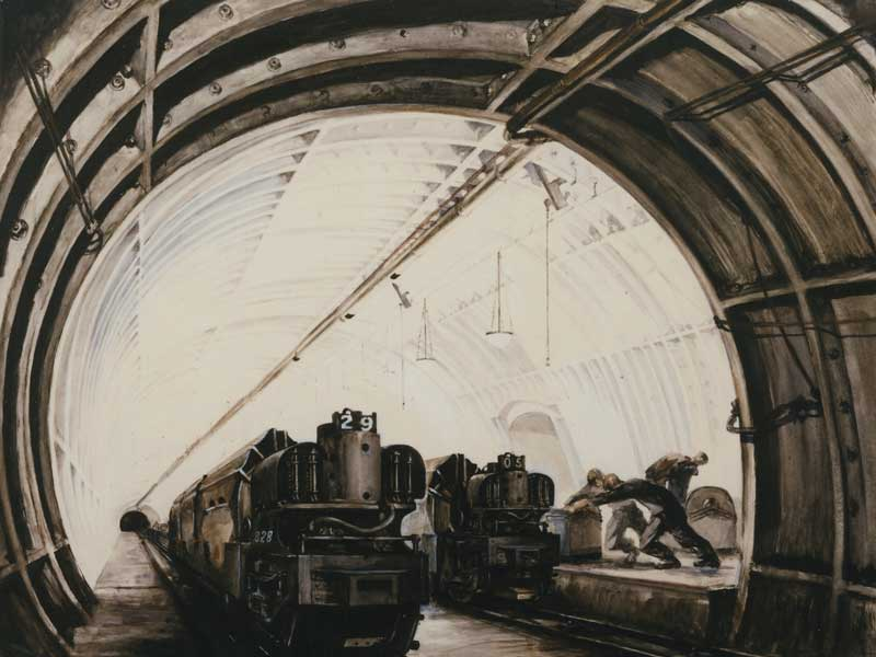 Post Office underground mail train, London, 1937 (POST 109/331)