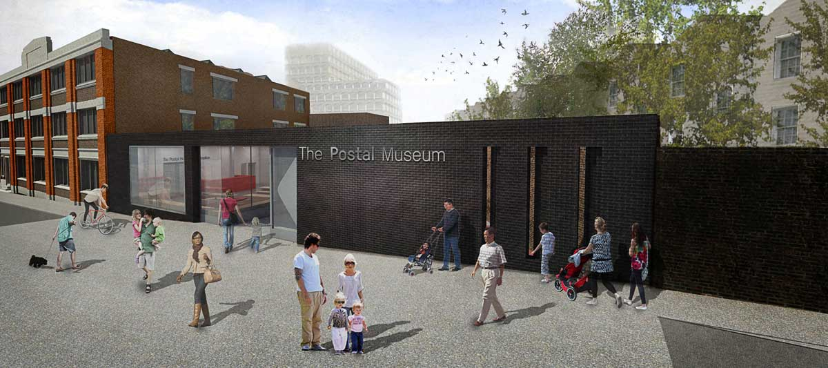 Artist's impression of the exterior of The Postal Museum