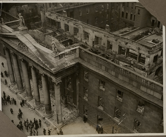 View of damage to Dublin General Post Office, 1916 (POST 56/179)