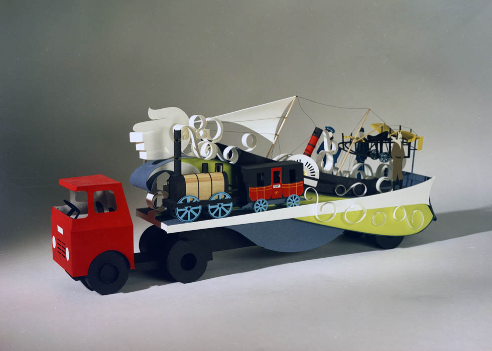 Model of transport float for Lord Mayor's Show, 1970
