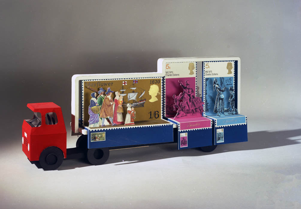 Model of philatelic float for Lord Mayor's Show, 1970
