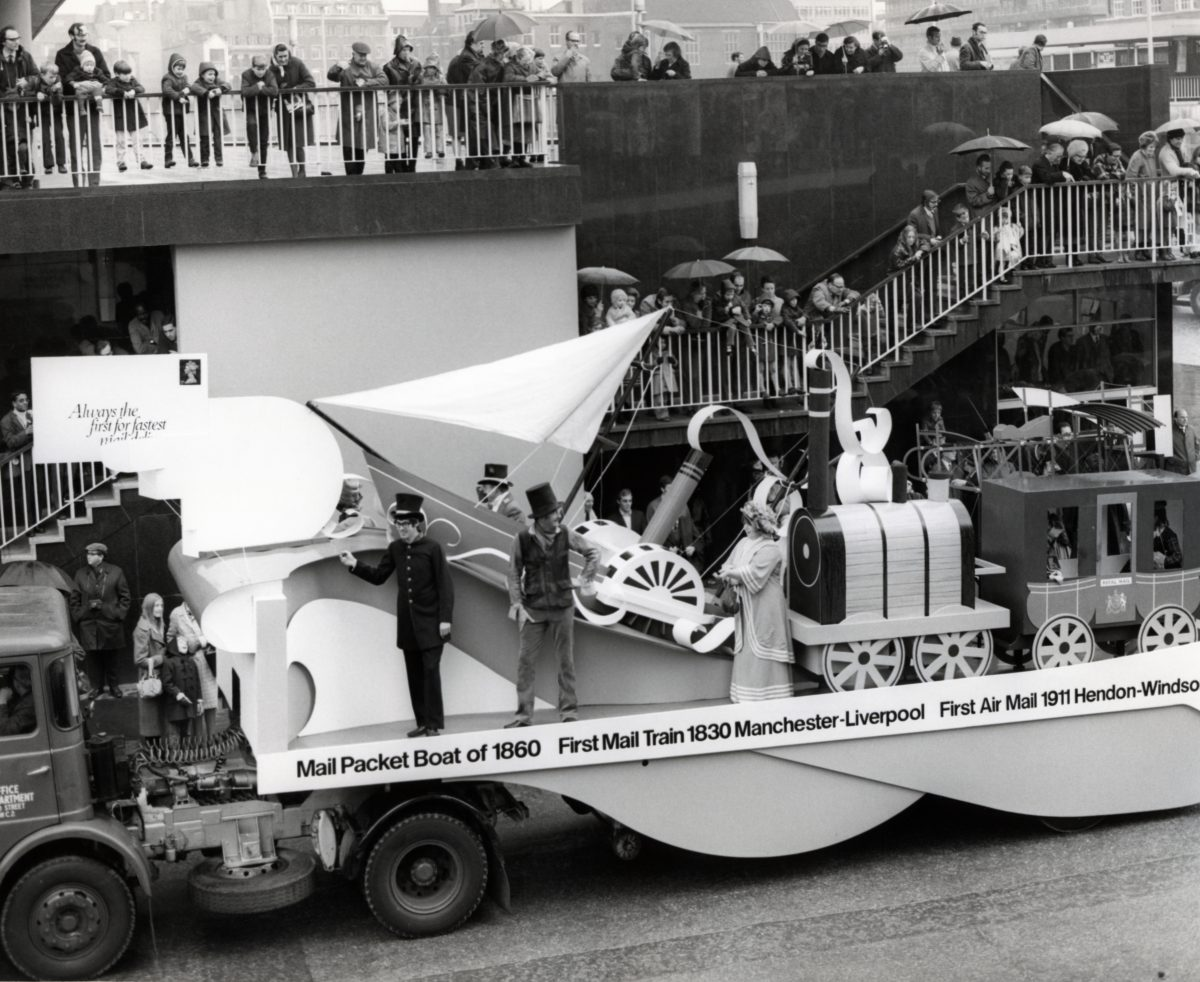 Transport float, Lord Mayor's Show, 14 Nov 1970