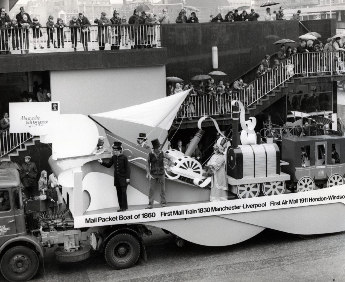 Transport float, Lord Mayor's Show, 14 Nov 1970