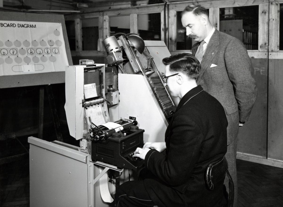 Letter sorting machine keyboard training