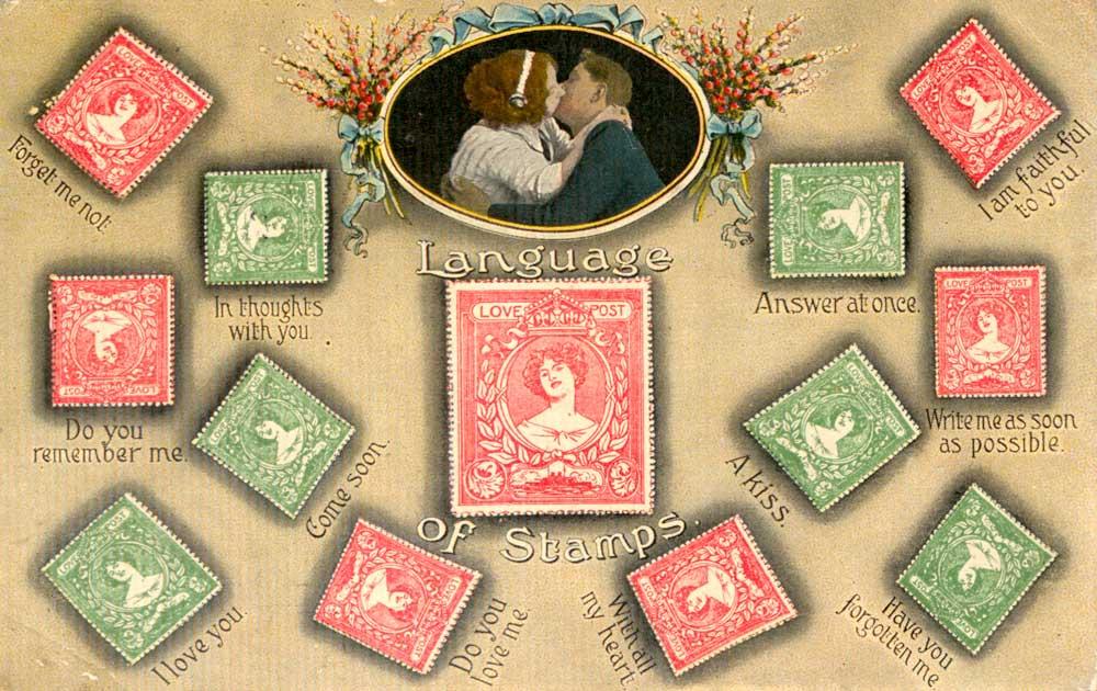 'Language of Stamps' Postcard, 1915, 2005-0082/7