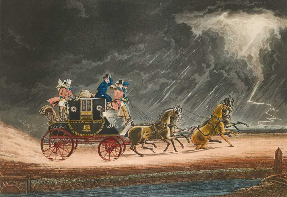 'The Mail Coach in a Thunder Storm on Newmarket Heath', 1827 (2009-0016)