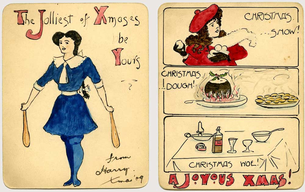 Postcards from The Postal Museum collection (2014-0038/01 and 2014-0038/03)