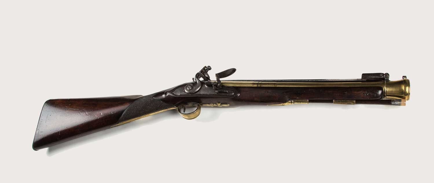 Blunderbuss with bayonet, engraved with the maker's name 'R BROWN', c.1790 (OB1996.374)