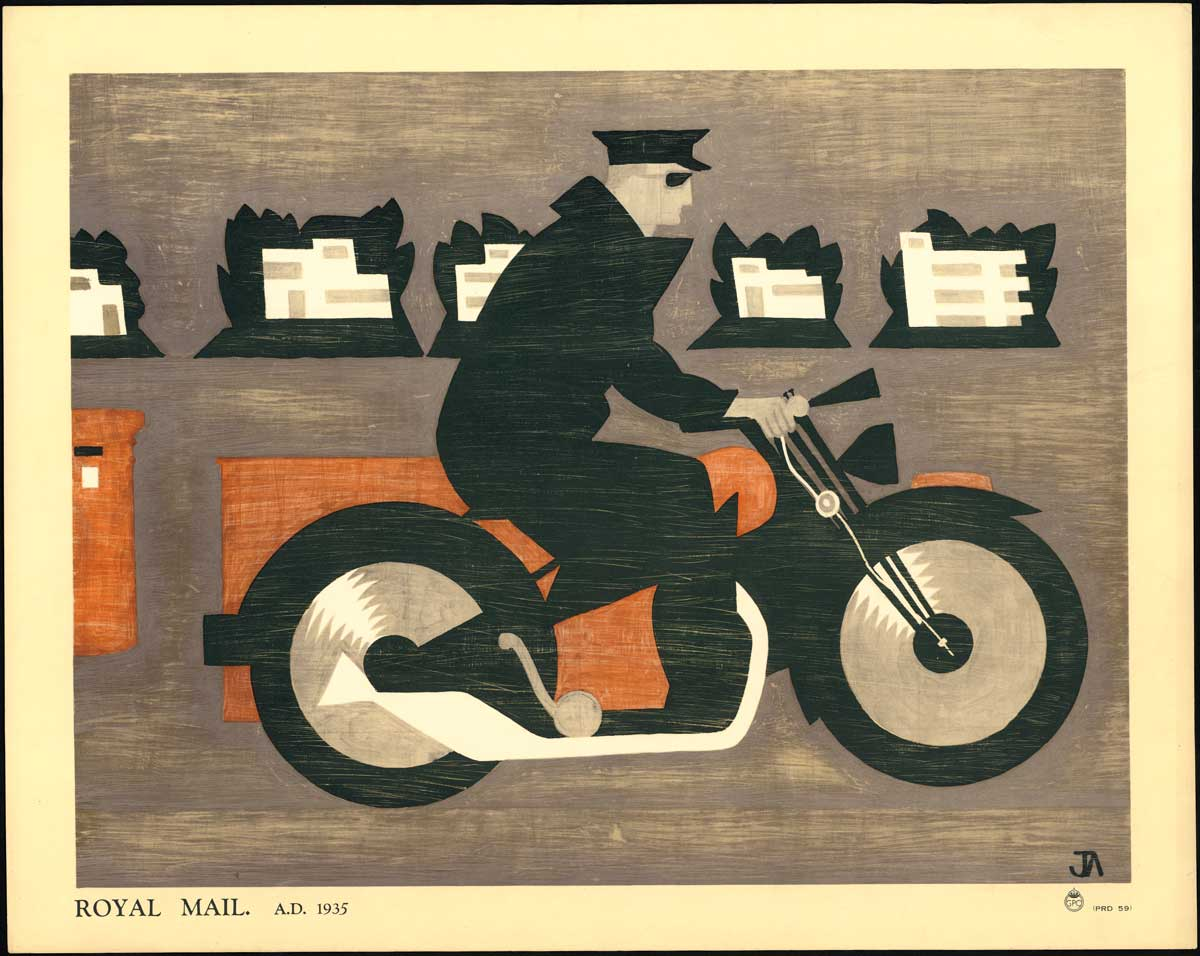 'Royal Mail A.D. 1935' by John Armstrong (POST 110/2486)
