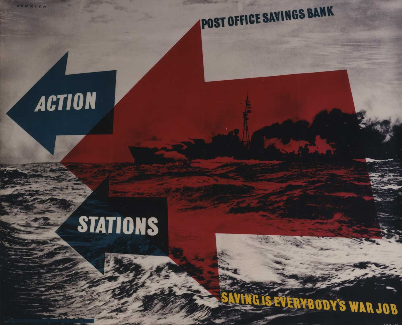 Poster advertising the Post Office Savings Bank by Frederic Henri Kay Henrion (POST 110/3198)