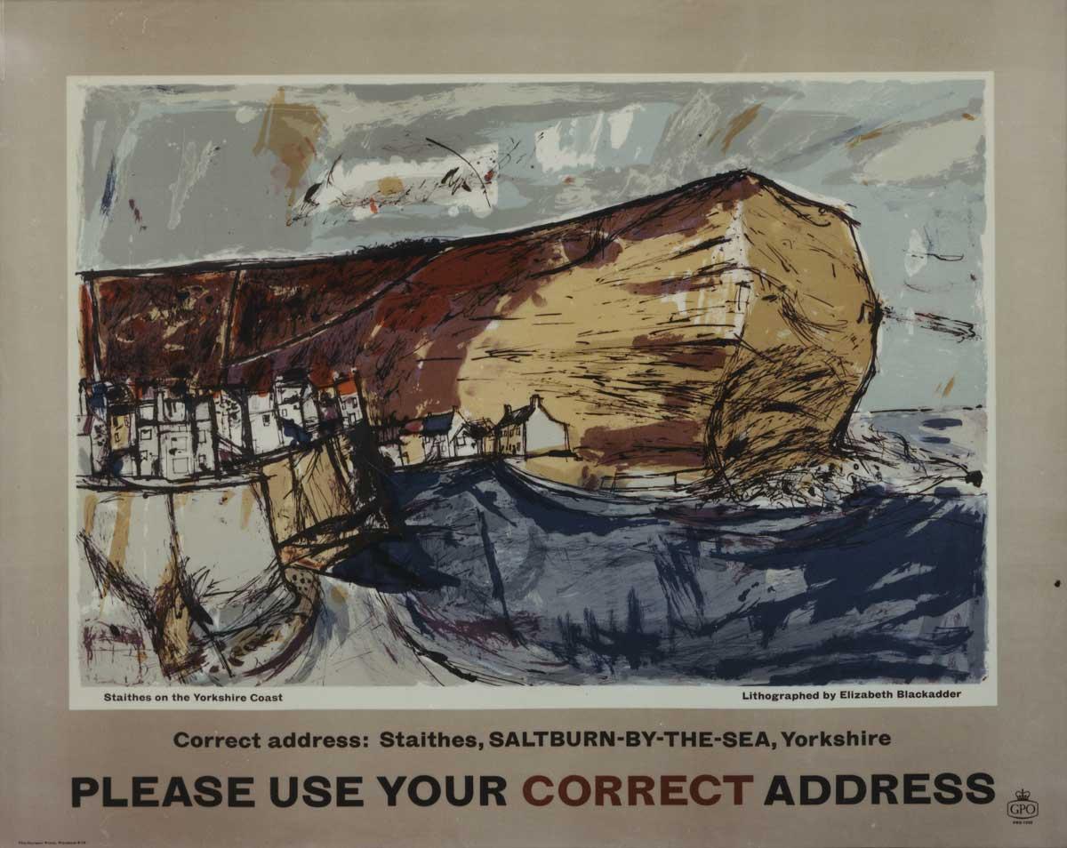 'Please use your correct address' by Elizabeth Blackadder (POST 110/2627)