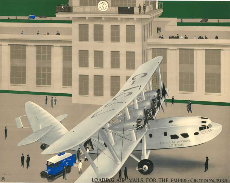 'Loading Air Mails for the Empire, Croydon, 1934' by H.S. Williamson (POST 109/168)