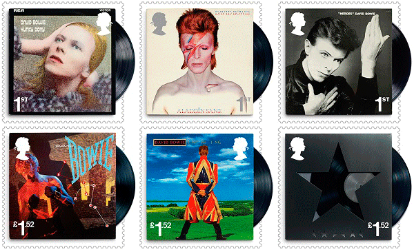 David Bowie Special Stamps Issue by The Royal Mail, 2017