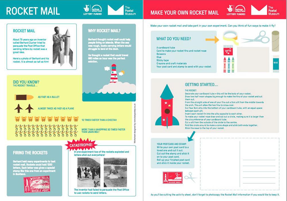 rocket mail activity sheet