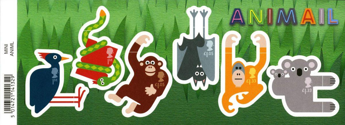 A Miniature Sheet consisting of six stamps depicting animals including an orangutan.