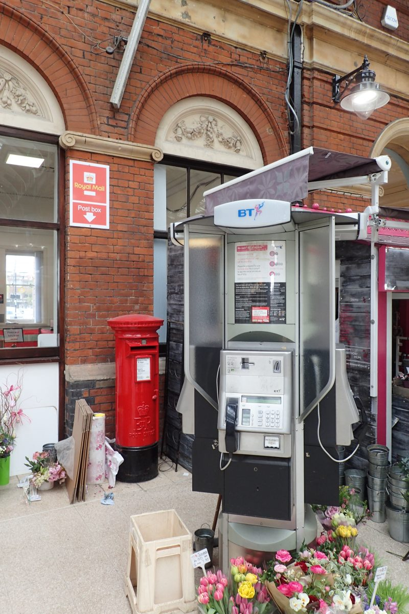 B type EiiR pillar box at Norwich Railway Station