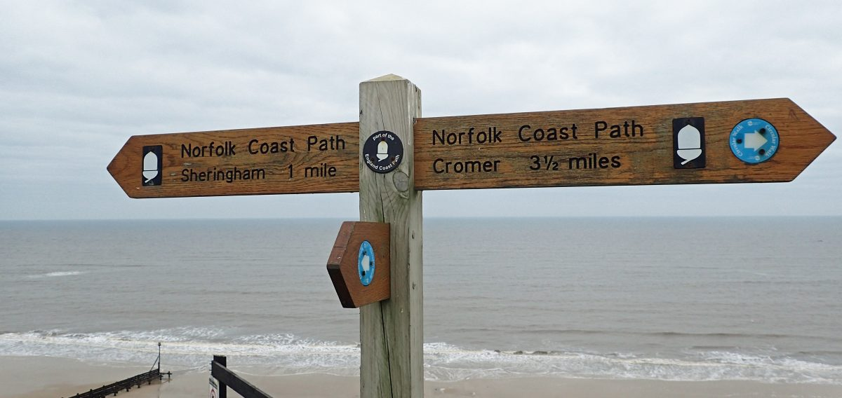 Signpost for Norfolk Coast Path