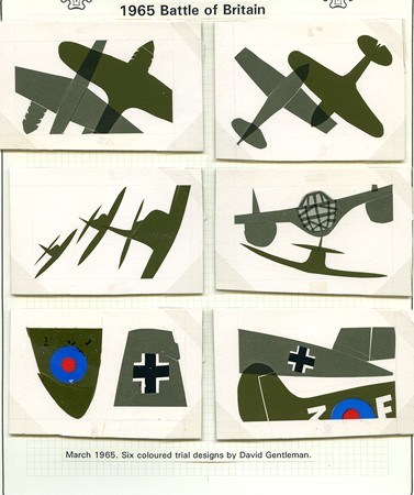 six trial images of the Battle of Britain series.