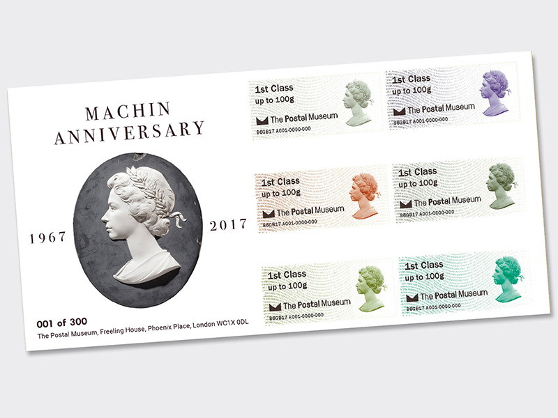 Machin Annversary Post & Go first day cover