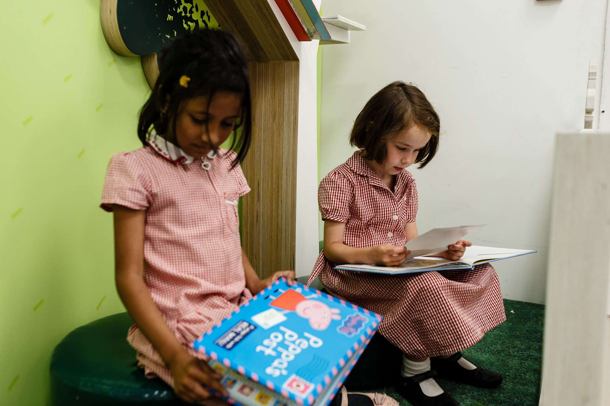 Reading corner - From classics like The Jolly Postman to current favourites, delve into stories about delivering the mail.