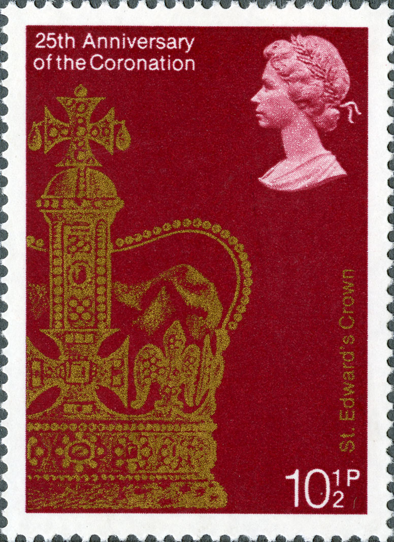 Stamp depicting a print of the St Edward's crown.