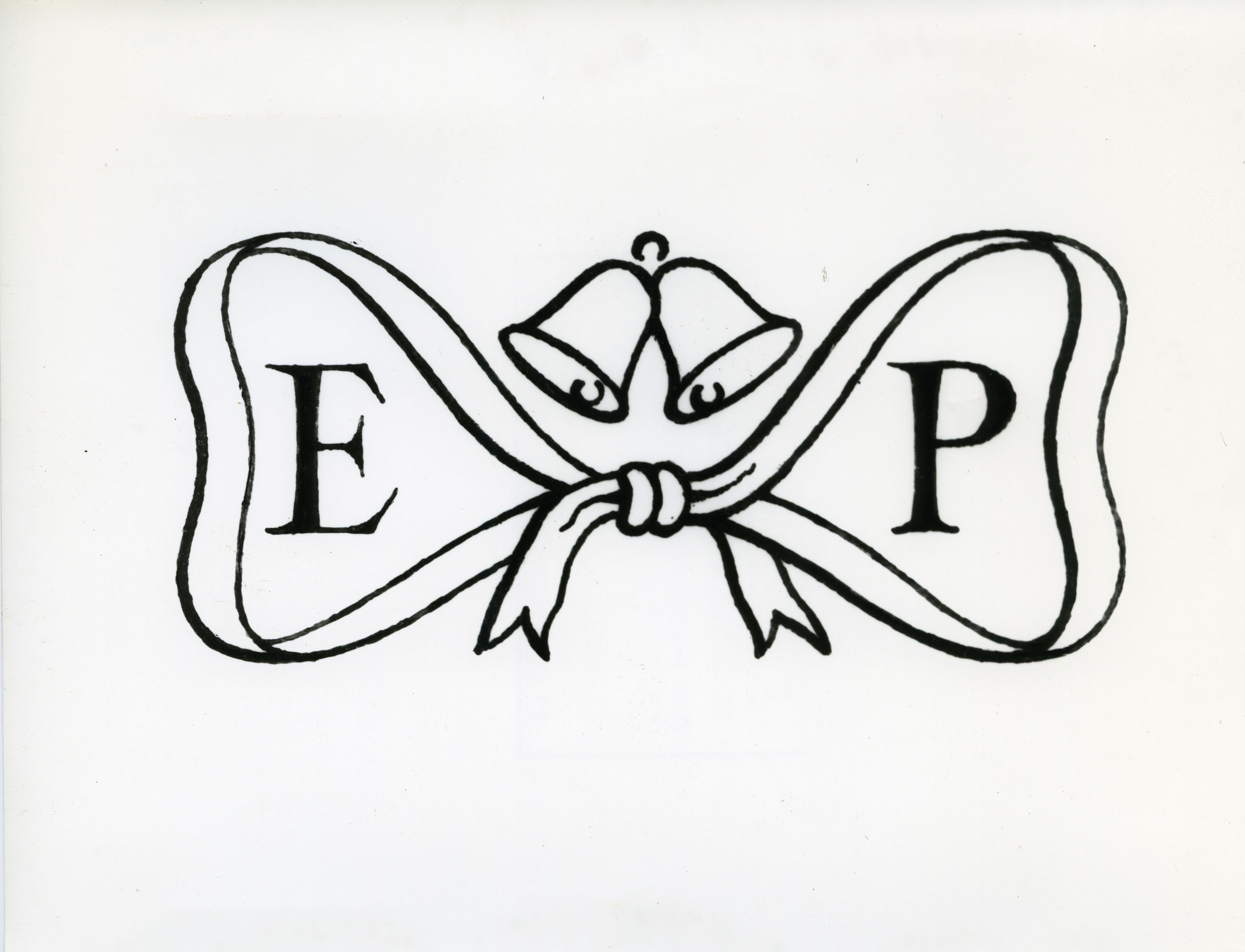Image of the cancellation designed for the Royal Wedding consisting of the couples initials in a lovers knot.